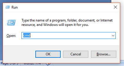 opening command as administrator