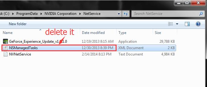 Delete NSManagedTasks.xml file