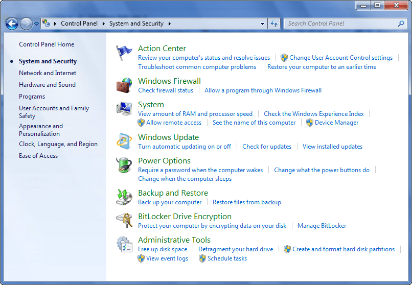 control panel windows 7 product key