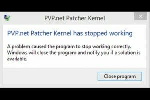 pvp net has stopped working