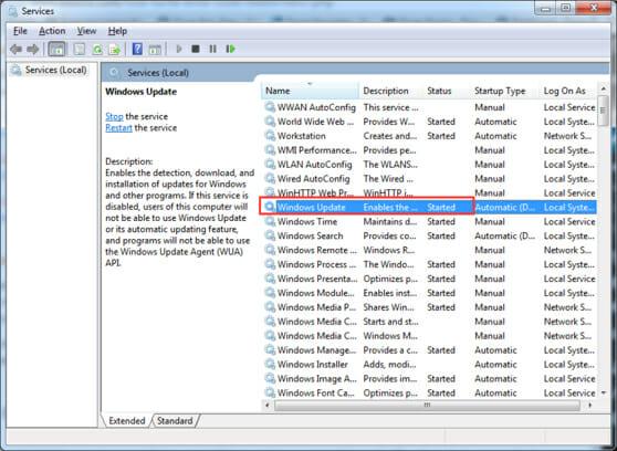 Windows update error 0x80070057