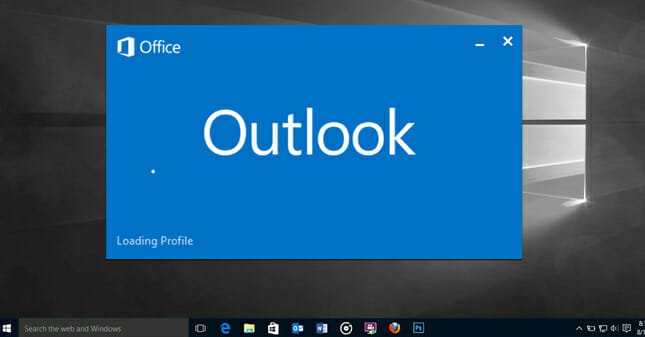 Outlook stuck at loading profile screen