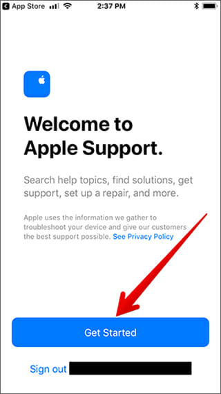 apple welcome screen