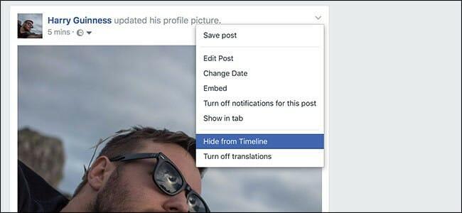 hide facebook post